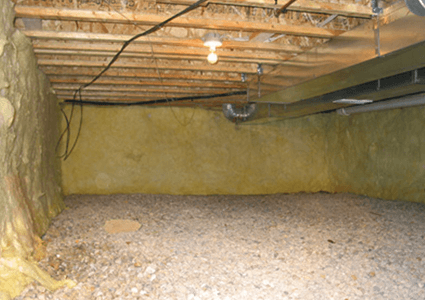 Crawl Space in Need of Encapsulation in Cape Charles