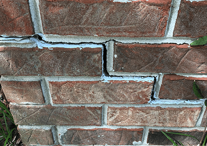 Stair Step Crack Repair in Gloucester